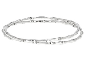 Sterling Silver Bamboo Inspired Bangles