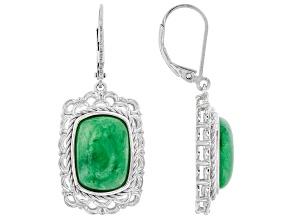 Jadeite Sterling Silver Earrings