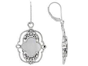 Mother-of-Pearl Sterling Silver Filigree Design Earrings