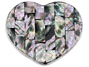 Abalone Shell Heart Shape Jewelry Box