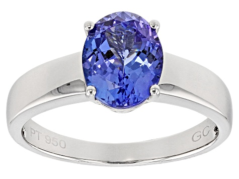 Blue Tanzanite Platinum Ring 2.50ct