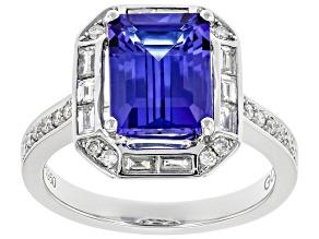 Blue Tanzanite Platinum Ring 2.59ctw