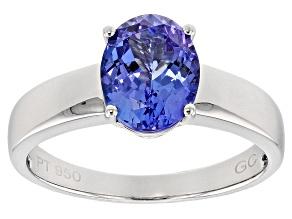 Blue Tanzanite Platinum Ring 2.50ct