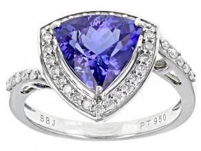 Blue Tanzanite Platinum Ring 2.25ctw