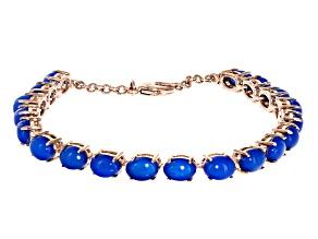 Blue Ethiopian Opal Copper Bracelet 8.08ctw