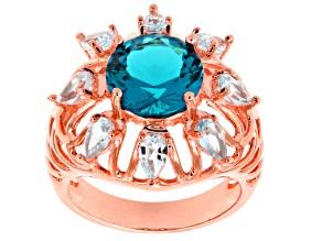 Blue Zandrite Copper Ring 6.34ctw