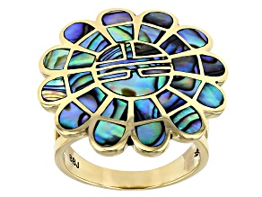 Abalone Shell Brass Ring