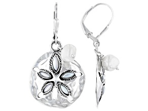 Mother-Of-Pearl & Cultured Freshwater Pearl Sterling Silver Earrings