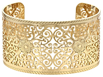 Picture of 14k Gold Over Brass Filigree Cuff Bracelet