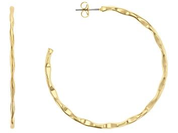 Picture of 14k Gold Over Brass J-Hoop Earrings