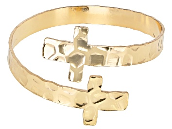 Picture of Gold Tone Cross Bracelet