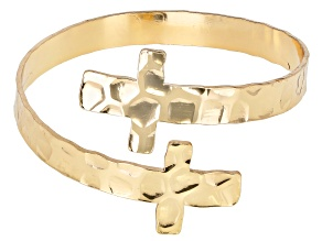 Gold Tone Cross Bracelet