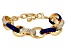 Blue Enamel Gold Tone Nautical Bracelet