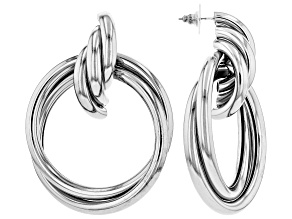 Silver Tone Hoop Earrings