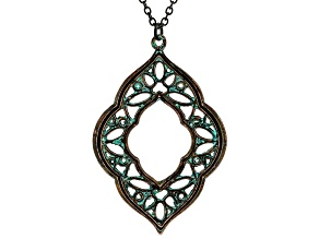 Patina Cut Out Quatrefoil Design Necklace