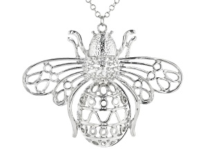 Silver Tone Bee Necklace