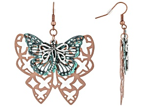 Tri Tone Butterfly Earrings