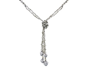 Gray Bead & Gray Baroque Pearl Simulant Necklace