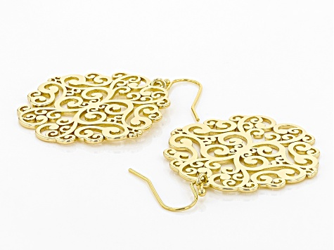 Gold Tone Filigree Earrings
