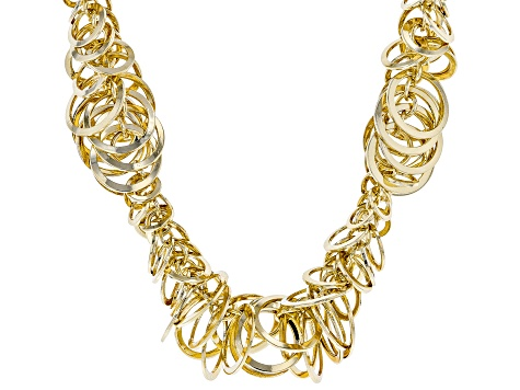 Gold Tone Link Necklace