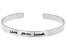 """""""Bless Your Heart"""" Silver Tone Cuff Bracelet"""