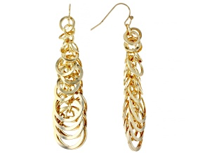 Gold Tone Link Dangle Earrings