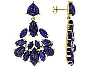 Blue Lapis Lazuli 18k Gold Over Sterling Silver Earrings