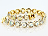Multicolor Ethiopian Opal 18k Yellow Gold Over Sterling Silver Bracelet 4.05ctw