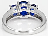 Blue Kyanite Rhodium Over Sterling Silver Ring 2.33ctw