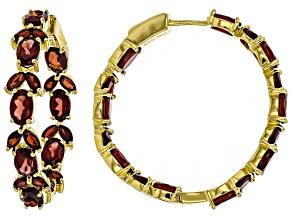 Vermelho Garnet™ 18k yellow gold over silver earrings 11.80ctw