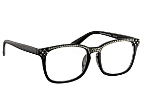 Pre-Owned  Swarovski Elements™Crystal Black Frame Reading Glasses 2.50 Strength