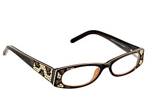 Pre-Owned  Swarovski Elements™ Crystal Black Frame Reading Glasses 1.50 Strength
