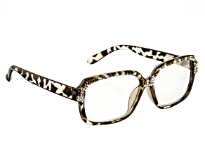 Pre-Owned Swarovski Elements ™ Crystal, Leopard Frame Reading Glasses 2.00 Strength