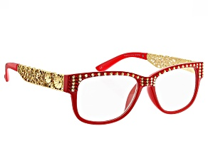 Pre-Owned  Swarovski Elements™ Crystal Red Frame, Reading Glasses 2.50 Strength