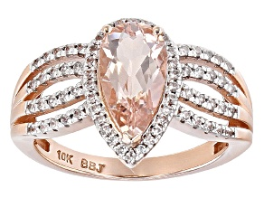 Pink Morganite 10k Rose Gold Ring 1.59ctw