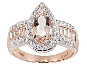 Pink Morganite 10k Rose Gold Ring 1.88ctw