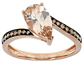 Pink Morganite 10k Rose Gold Ring 1.18ctw