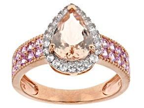 Pink Morganite 10k Rose Gold Ring 2.57ctw