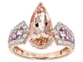 Pink Morganite 10k Rose Gold Ring 3.19ctw