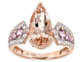 Pink Morganite 10k Rose Gold Ring 3.19ctw