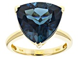 London Blue Topaz 10k Yellow Gold Ring 8.33ct