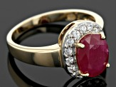 Red Ruby 10k Yellow Gold Ring 2.19ctw