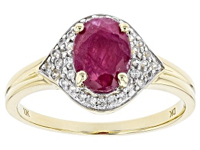 Red Ruby 10k Yellow Gold Ring 1.53ctw