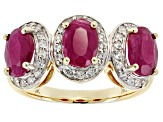 Red Ruby 10k Yellow Gold Ring 2.64ctw