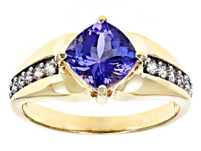 Blue Tanzanite 10k Yellow Gold Ring 1.63ctw