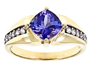 Blue Tanzanite 10k Yellow Gold Ring 1.63ctw