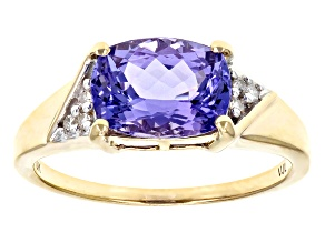 Blue Tanzanite 10k Yellow Gold Ring 1.91ctw