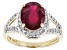 Pre-Owned Mahaleo Ruby 14k Yellow Gold Ring 3.84ctw