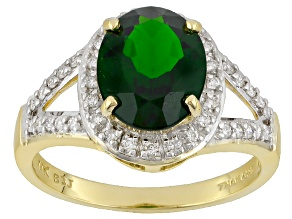Pre-Owned Green Chrome Diopside 14k Yellow Gold Ring 2.48ctw