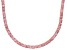 Pre-Owned Bella Luce® 20.02ctw Round Pink Diamond Simulant 18k Gold Over Silver Necklace